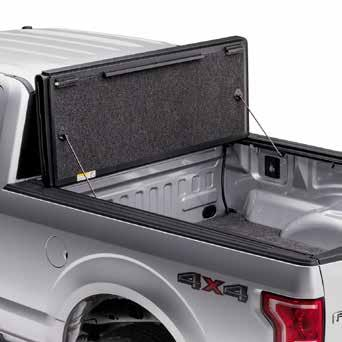 universal tailgate operation, allowing you to close the tailgate with the cover open or shut.
