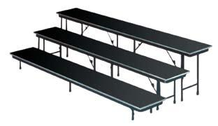 Available with portable folding stairs, guardrails