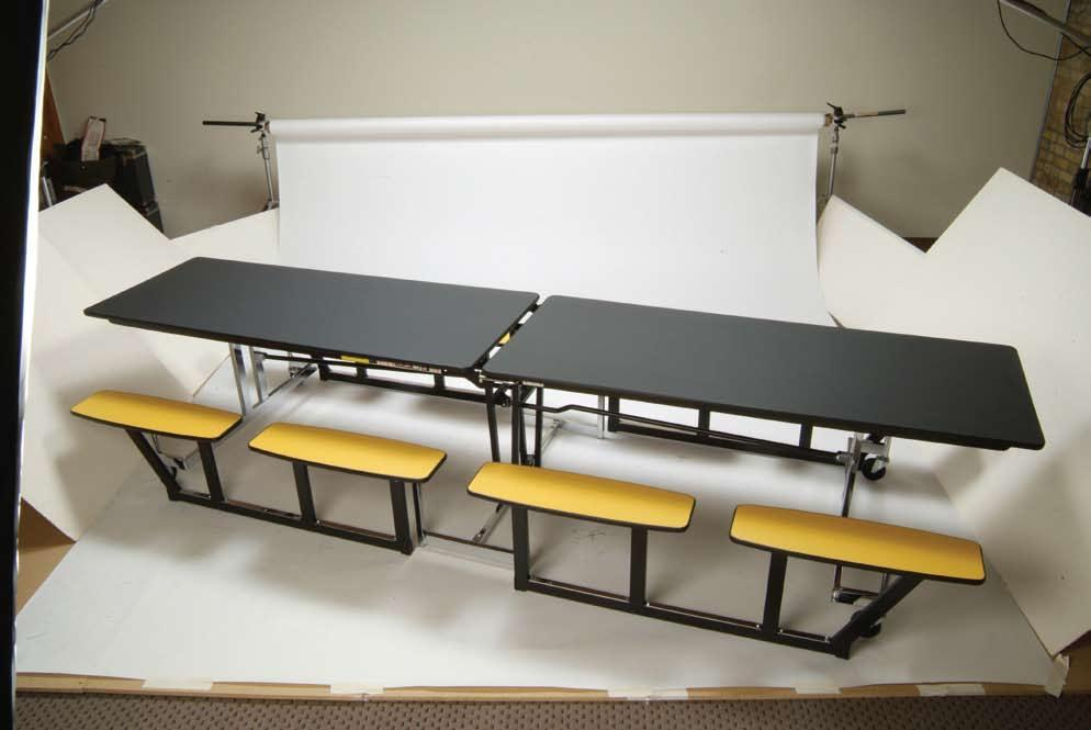 NP Series This table features a bench design for convenient center accessibility.