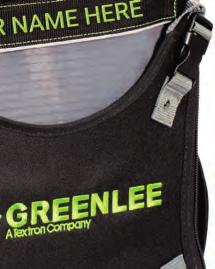 bag with a personalized embroidered name plate (Initial bag purchase comes with