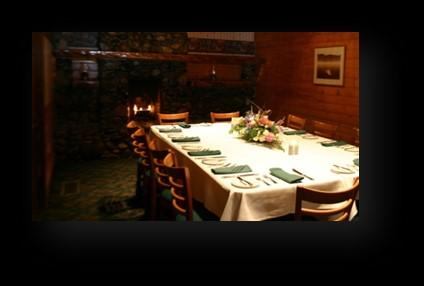 allows for small intimate meetings or private dining.