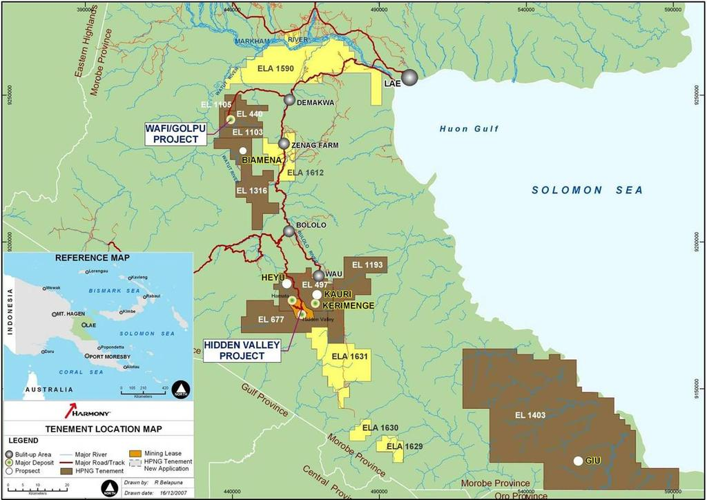 Exploration The tenement package is highly prospective for porphyry and hydrothermal Au and Cu/Au deposits.