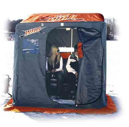 Item #: 2120 HOUSE FEATURES: Custom Trim-Lock System Square tubing Interior storage pouch Spacious inside dimensions Extra-long skirting SMALL SLED Size: 44 L x 22 W x 9 D Weight: 6 lbs Item #: 1610