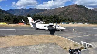 Lodge 9 November 17 Saturday Fly back to Kathmandu (30 minute flight) Today we will fly to Kathmandu (elevation 4593 ) and transfer to