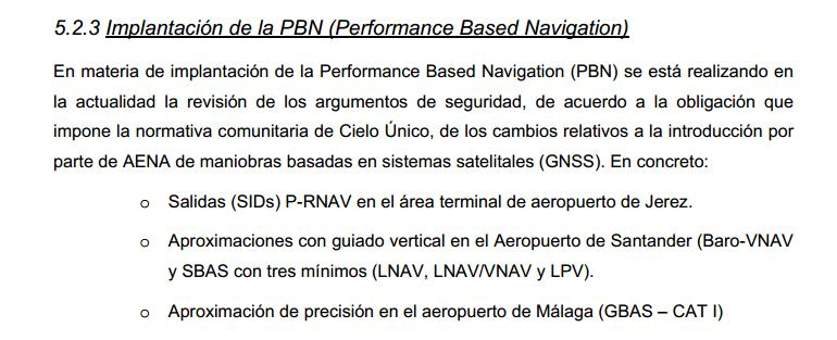 PBN Operations: PBN Operations (III) Spain s policy for PBN implementation