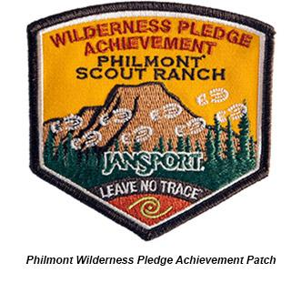 The Wilderness Pledge Achievement Program helps insure that there is crew leadership focused on outdoor ethics.