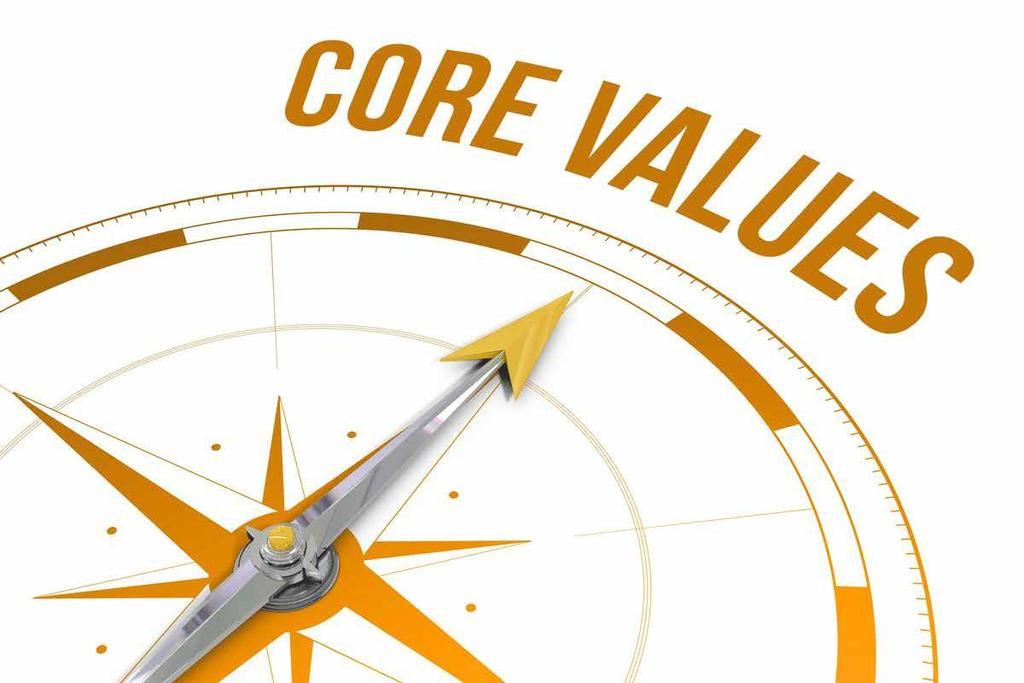 CORE VALUES OF OUR COMPANY To give every customer, partner and employee the power