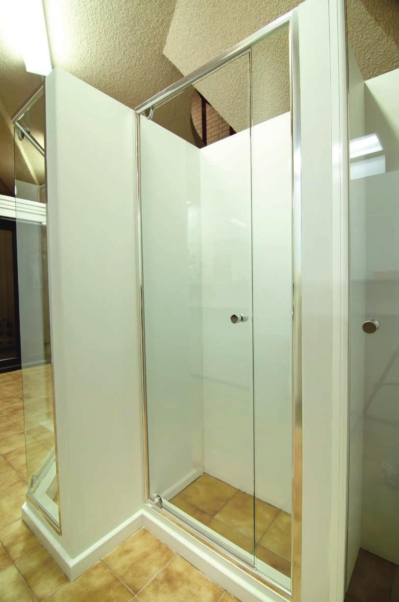 This allows a clear, unobstructed view into and out of your shower creating the feeling of space.
