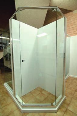 The frameless shower screen is the top of the range and adds a look of luxury and style to your bathroom.