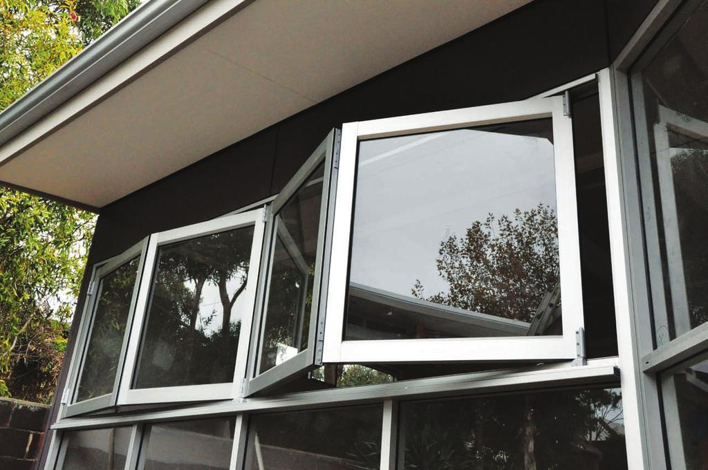The window can be fully opened to maximise the opening to allow