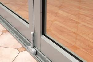 Bi-fold doors can be designed to have a single active door