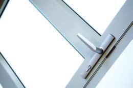 The door is usually fitted with an concealed overhead closer