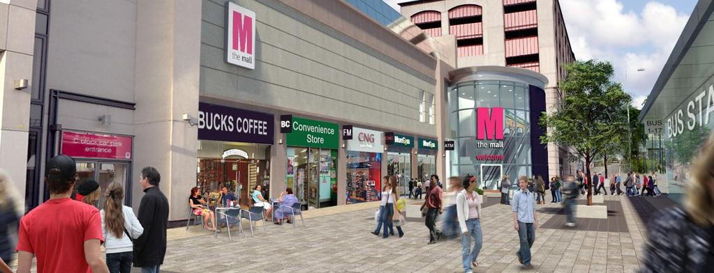n to bullet points New external mall facing the redeveloped bus station PureGym & Ainsworth Street 3.