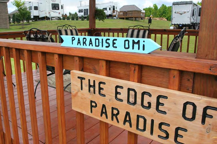 The $3 million worth of construction and landscaping done by Larry and Sandy Harris are just some of the reasons lot owners at Smith Lake RV Resort agree with the Van Giessens signs.