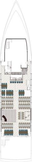 DECK LAYOUTS SOULEIADO DECK Harbor Level Deck Seating Capacity 134 Bar 1 Restrooms 1 - Women s 1 - Men s