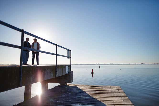 For those who don't mind dipping their toes in the water, Lake Boga beckons for those who want to spend