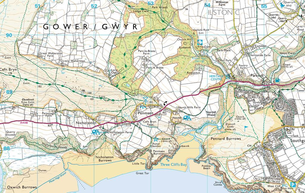 Approximate distance: 4.5 miles For this walk we ve included OS grid references should you wish to use them. 2 1 Start End 4 3 N W E S Reproduced by permission of Ordnance Survey on behalf of HMSO.