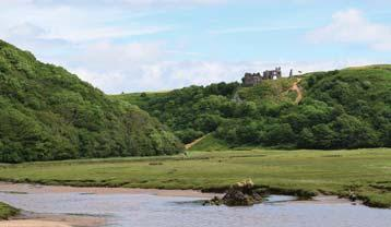 There are local legends and stories which claim to explain the demise of the castle, all of which contribute to the romance of a ruined castle overlooking the sea.