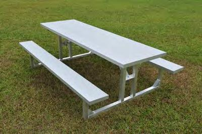 All-Aluminum Team Benches and Tables Page 10 Picnic Tables with 2""