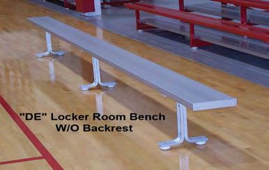 "Page 7 BEAM CLAY Aluminum Benches - National Recreation Systems NATIONAL RECREATION SYSTEMS Aluminum Benches Benches are made with anodized 2"" x 10"""