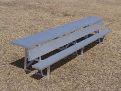 "5 7'6"" 52 5 $305 MCTS 15 15' 93 10 $525 MCTS 21 21' 125 14 $795 MCTS 27 27 161 18 $935 PERMANENT BENCHES WITHOUT BACKS (legs to set in concrete) PTS 6 6' 19 4 $125 PTS 7."