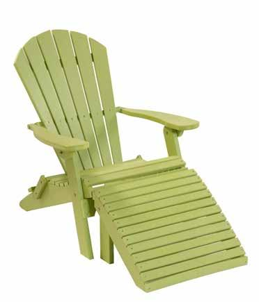 Footrest lime green