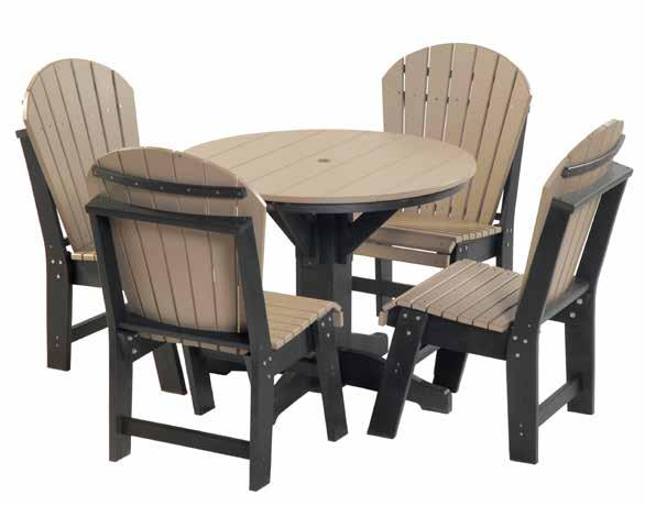 "Patio Tables set 1 #903 38"" Round Patio Table - 30"" high 4 - #700"