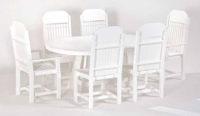 "Patio Tables set 9 #850 36"" x 60"" Oval"