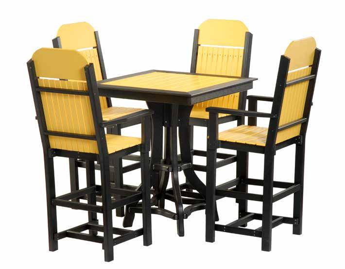 "#502 Side Chairs yellow and black #1007 44"" x"