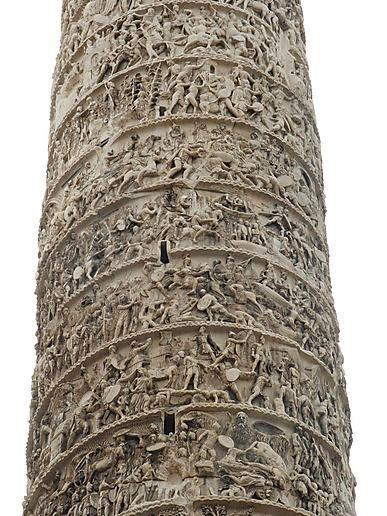 There are more than 2000 carved figures depicting the story of Trajan's Da