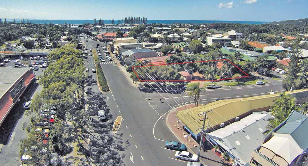 15 Lawson Street, Byron Bay Rare, commercially zoned ¼ acre in Jonson Street main street in Byron Bay Phone: (02)