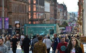 Glasgow is a major retail location, second only to London in the UK, with over half a million square metres of retail space and a shopping population of 1.