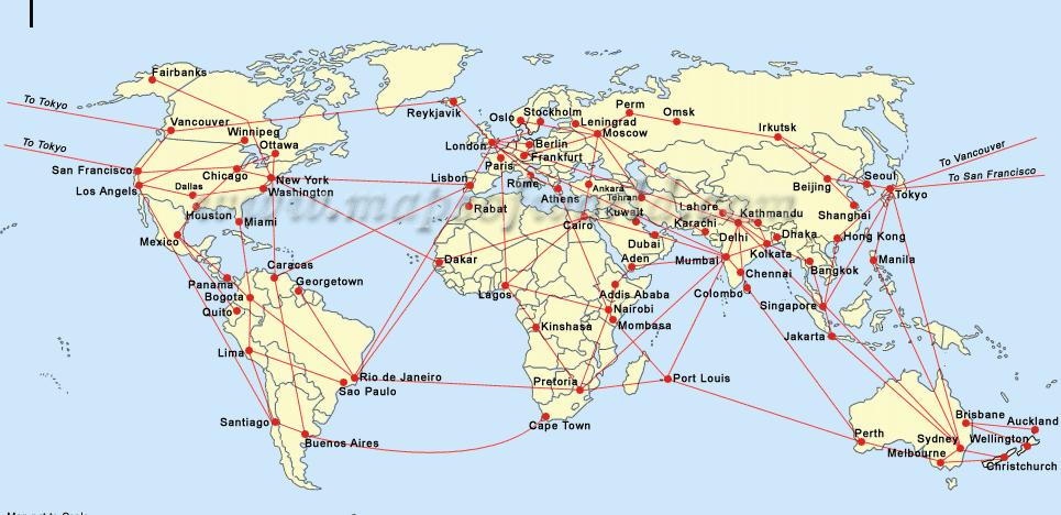 Major Air Hubs and