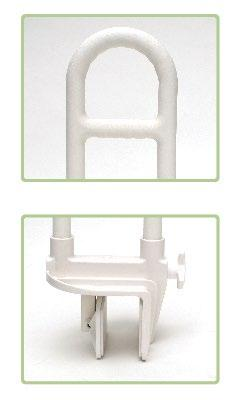 Bi-Level Tub Grab Bar - 14 Height, Painted Metal, White The Breezy Everyday Bi-Level Tub Grab Bar provides support when stepping in/out of the bathtub.