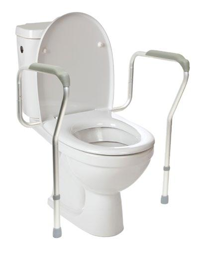 Toilet Seats Toilet Safety Frame Cantilevered Arm The Breezy Everyday Toilet Safety Frame offers lightweight anodized aluminum for strong support.