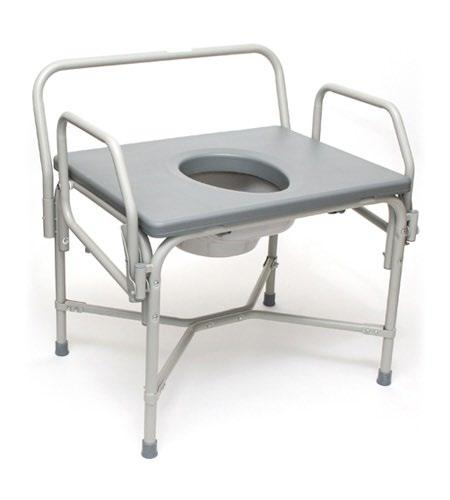 or as toilet safety rails. The Breezy Everyday Extra-wide design ideal for larger patients (650 lbs. weight capacity).