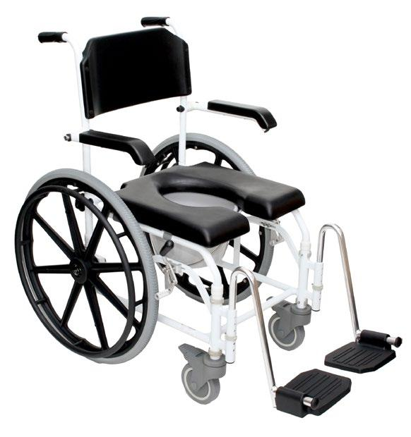 Rolling Shower Chair Self Propelled Frame, 24 Rear Wheels, Self Propelled