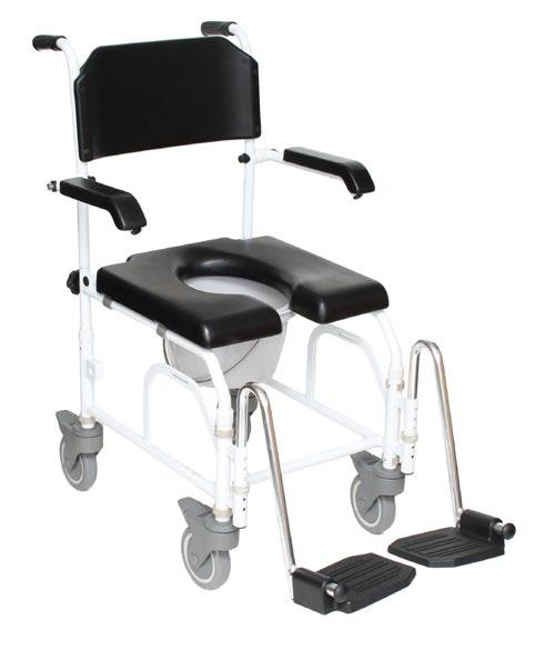 Rolling Chair can be used as a rolling commode for safe transport to and
