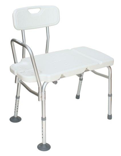 Transfer Benches Non-Padded Transfer Bench - One-Piece Molded Seat - Assembled, White Padded Transfer Bench - Closed Seat - Suction Cup Footpieces - Grey The Breezy Everyday Tranfer Benches