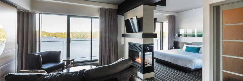 Modern suites at one with nature 200 fireplace suites with kitchenette