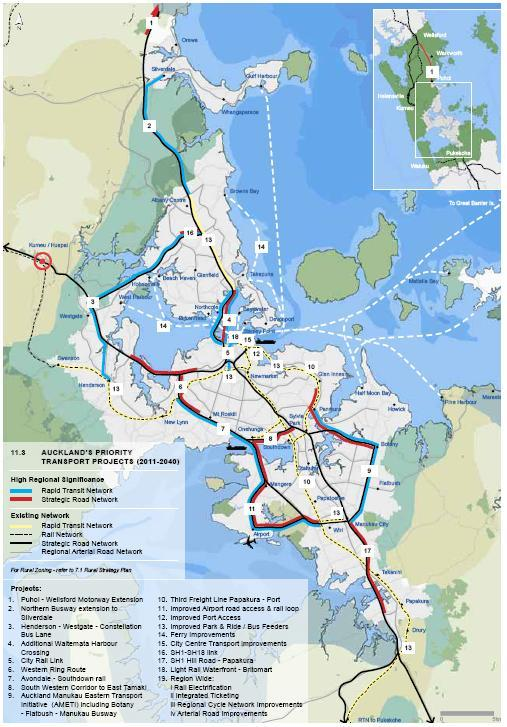 $ million Puhoi Wellsford 2,300 Northern Busway Extension 600 Waitemata Harbour Crossing 5,300 City Rail Link 2,200 Avondale Southdown Rail 1,000 South Western East Tamaki Corridor 1,250 AMETI 1,500