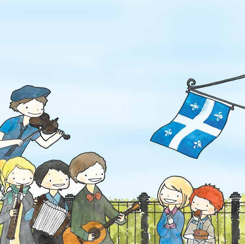 Q is for Quebec, a French-speaking land.