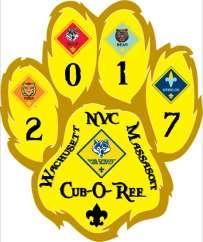 Nashua Valley Council Boy Scouts of America Cub-O-Ree A Gathering of Cub Scouts Theme: Cub-O-Ree A Gathering of Cub Scouts Date: October 14 15, 2017 Time: Day Events Saturday - 9:00 AM 4:00 PM