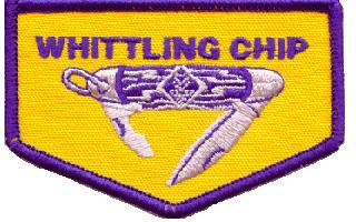 Whittling Chip Requirements Bear Scouts may earn the privilege of carrying a pocketknife to Cub Scout functions when required and asked to do so.