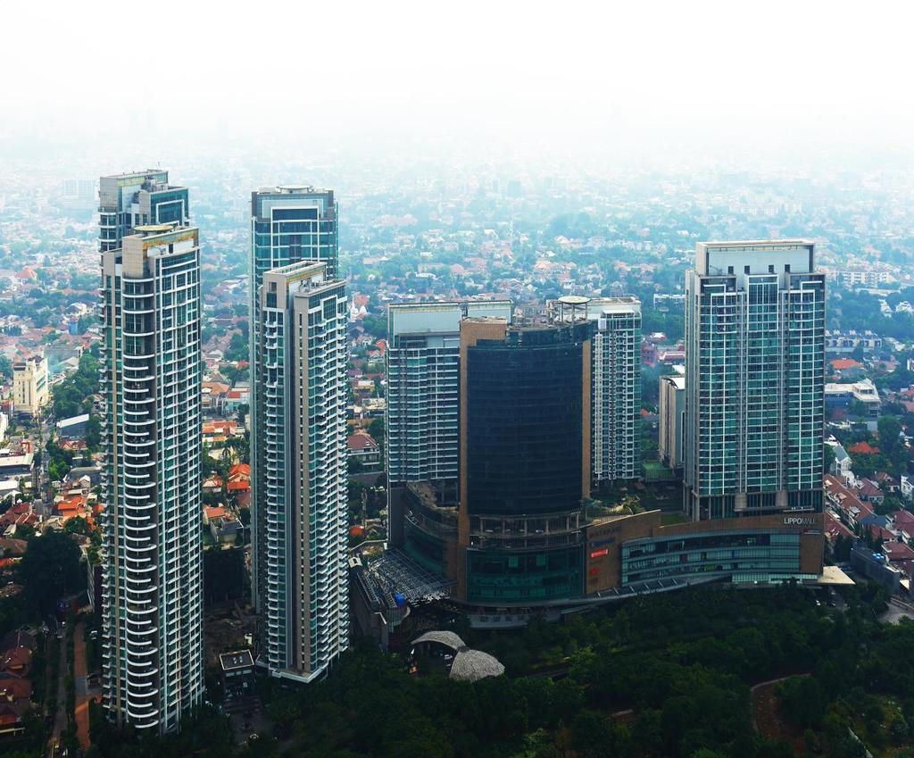 A LANDMARK PROJECT SOUTH JAKARTA (FIRST LAUNCHED ON JULY 2007) SOLD (AS OF 31 DEC 2017) THE COSMOPOLITAN THE BLOOMINGTON THE INTERCON THE INFINITY THE RITZ 98%
