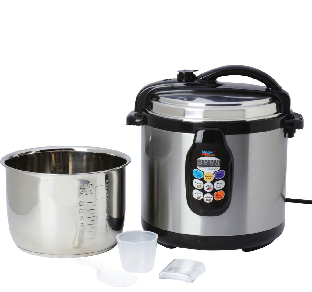 THE ELECTRIC COLLECTION Continued 3 in 1 cooker Pressure Cooker Slow Cooker Rice Cooker 6.