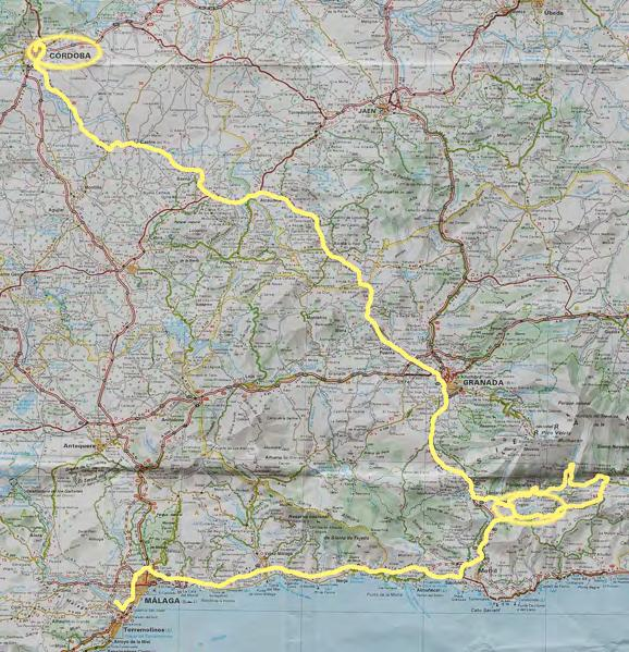 This map show our overall route highlighted.