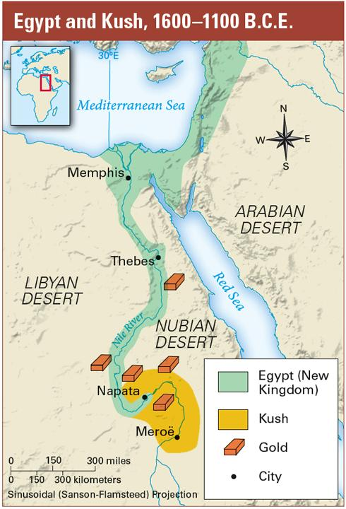Its location along the Nile River, to the south of