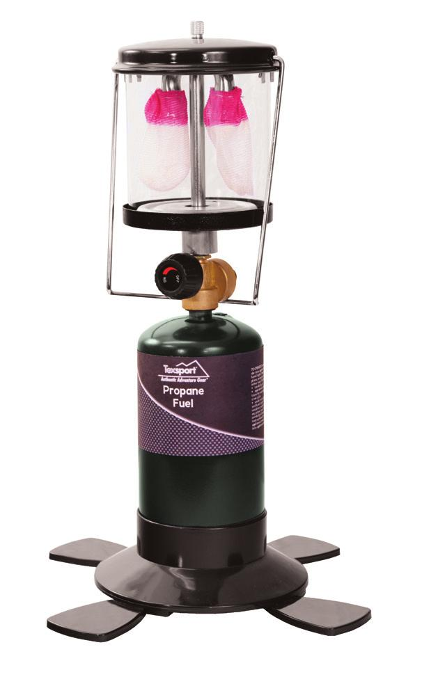disposable propane fuel Burns eight hours at maximum setting Propane Lanterns 14202 Double Mantle Propane Lantern Adjusts to 600