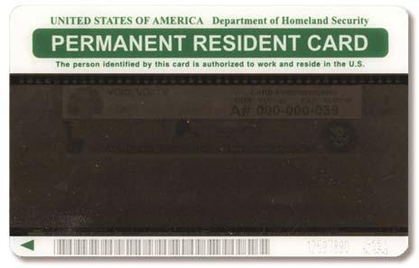 Also in circulation are older Resident Alien cards, issued by the U.S.